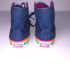 Rainbow Stripe Junior Hi Top Converse